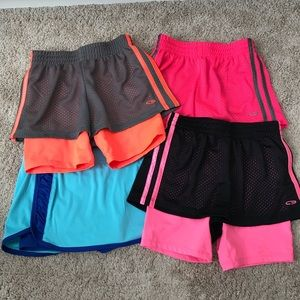 bundle with 3 pairs of shorts and one skort